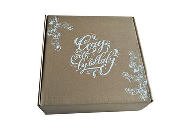 Cover Lamination Brown Paper Foldable Boxes, Dilipat Kotak Hadiah Coklat Persegi