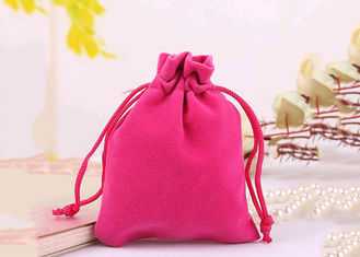 Durable Style Small Velvet Serut Tas Cotton Flap Soft Pink Berwarna
