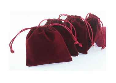 Personalised Red Velvet Serut Pouch Foil Logo Untuk Jewelly Packaing