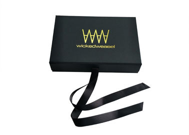 Cina Bikini Swimwear Packaging Book Shaped Box Black Ribbon Magnet Penutupan Persetujuan ISO pabrik