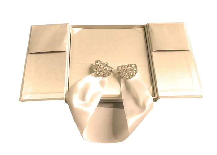 Undangan Pernikahan Kotak Hadiah Hias 2 Sisi Desain Kustom ...